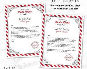 Christmas Elf Arrival Letter | Elves Welcome Letter | Elf Goodbye Letter | Elves Goodbye Letter | Elf Printables