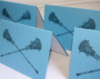 Lacrosse Stick All Occasion Note Card Stationery Set of Ten, Lax Note Cards, Sports Card Sets, Thank You Lacrosse