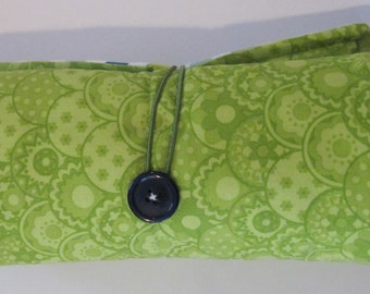 SALE!!! Roll Up Changing Pad, Green and Blue Chevron