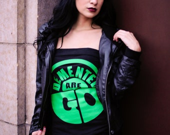Demented Are Go Psychobilly/ Pinup Tube Top Sz. S, M, L, XL