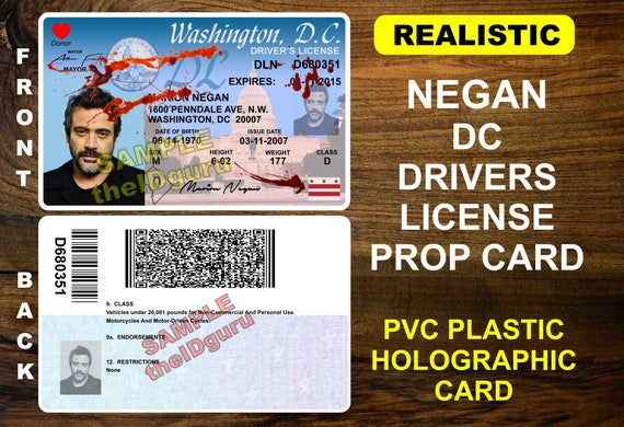 The walking dead negan dc drivers license most realistic altavistaventures Gallery