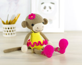 Amigurumi Monkey Patterns : Crochet pattern monkey monkey amigurumi monkey stuffed animals