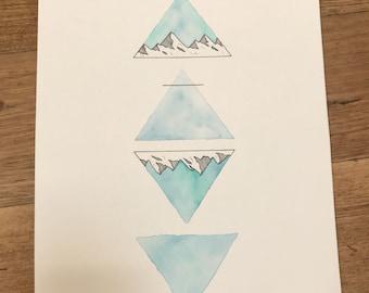 Alchemy symbol blue a4