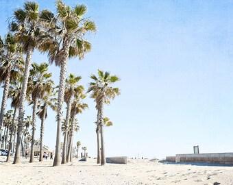 Huntington Beach Palm Tree Decor Wall Art California Boardwalk Print