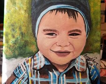 "Custom Kids Portrait Painting (8""x10"")"