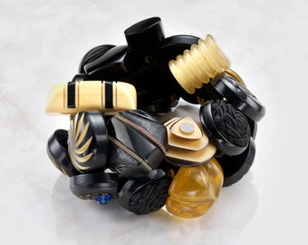 Assorted Bakelite Button Bracelet