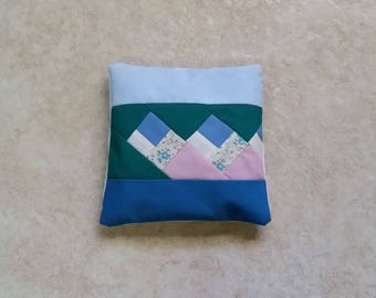 Quilted Patchwork Real Lavender Filled Sachet Blue Green Pink Handmade