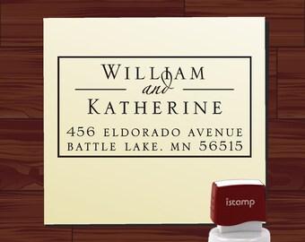 Address Stamp for Wedding Invitation Envelopes, Return Address Stamp, Self Address Stamp, Self Return Address, Name Address Stamp - 1292