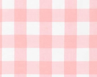 "Petal 1"" Plaid Cotton, Carolina Gingham, Pink Scarf Fabric, Quilting fabric, Apparel Fabric, Plaid cotton Scarf, Robert Kaufman"