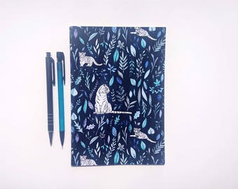Leafy Tigers || A5 Plain Notebook