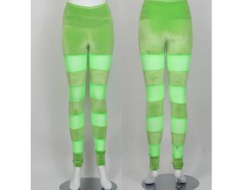 SALE Size XS Lime Velvet Leggings