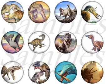 Dinosaur Pins, Dinosaur Flatbacks, Dinosaur Magnets, Dino Party Favors, Dino Flatbacks, Dino Teaching Aid, 12 Ct. Set A