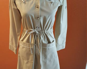 Vintage Military Inspired Khaki Whip-O-Will Dress