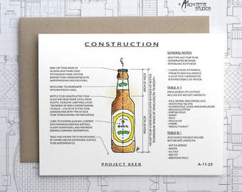 Project Beer - Instant Download Printable Art - Construction Series