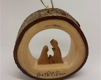 E31/Olive wood ornament/ hand carved Christmas tree ornament/Bethlehem/Holy Land