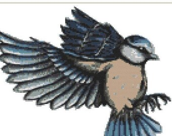 Cross Stitch kit - Blue tit 27cm x 21cm