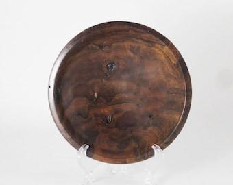 Claro walnut shallow bowl #612