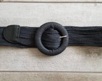Ladies multi-cord black belt