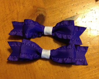 Royal Purple s Hair Bow - 2 inches