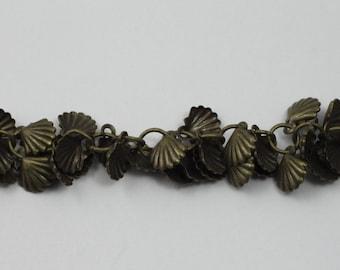 Antique Brass, 7mm Shell Chain #CC176