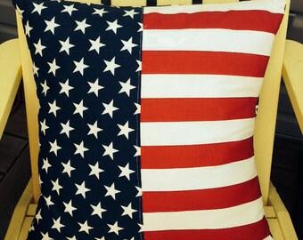 Patriotic flag pillow