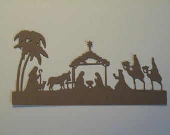 6 Nativity Die Cuts: Kraft Brown Christmas Stamping supplies Handmade card