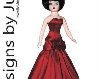 "PDF Starlight Dress Pattern for 10"" Coquette Cissy Madame Alexander"