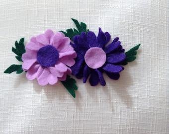 Dani - Purple and Lavendar Flower Headband