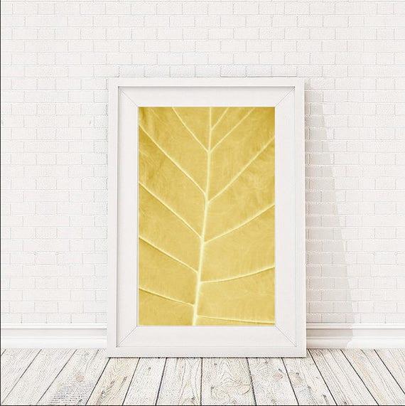 Minimalist Poster Amber Yellow Abstract Wall Art Large Wall