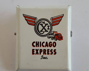 Vintage 1950's Chicago Express Inc trucking company receiving or receipt spring clip advertising.