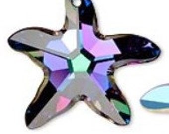 Swarovski Electra Faceted Crystal Starfish Pendant 16x11mm