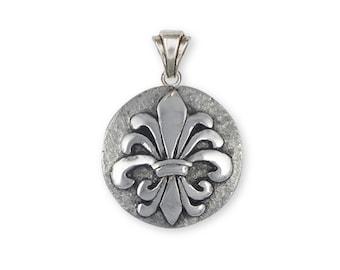 Fleur De Lis Pendant Jewelry Sterling Silver Handmade Flower Pendant FD20-P