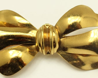 1050's Vintage Gold Bow Pin