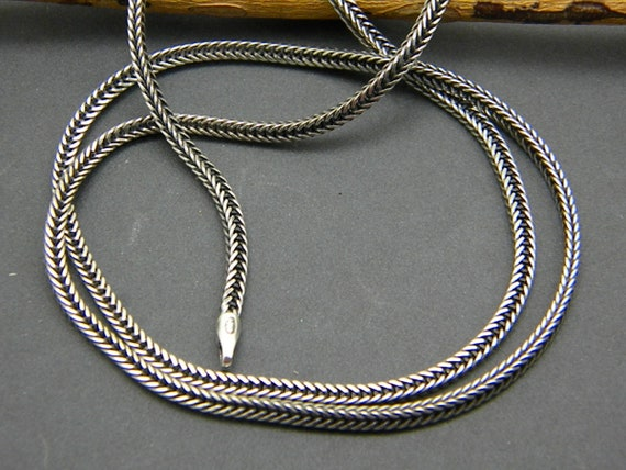 Rustic chains for pendants braided rope chain necklace sterling sterling silver chain oxidized wheat chain bali woven chain braided rope chain necklace aloadofball Choice Image