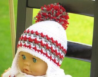 Crochet Ear Flap Hat Pattern, Crochet Baby Pattern, Crochet Hat Pattern, Hayden Ear Flap Hat