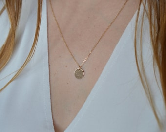 Necklace customize medal 14 k gold