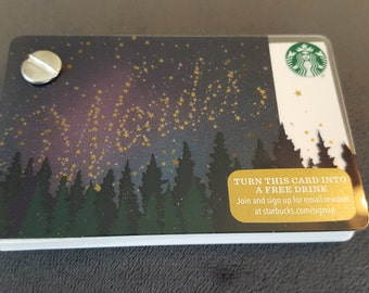 Starbucks Upcycled Refillable Giftcard Notebook - 2015 Wonder Stars