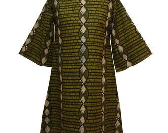 Tunika, afrikanischen Druck Tunika, afrikanische Mode, grüne Tunika, afrikanische Tunika, Ankara Print Kleid, lose passen Tunika Top, Tunika-Kleid