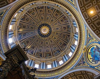 Photograph of the Dome of Saint Peter's Basilica