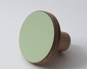 Wooden knobs green color