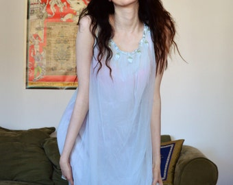 vintage 60s babydoll nightgown
