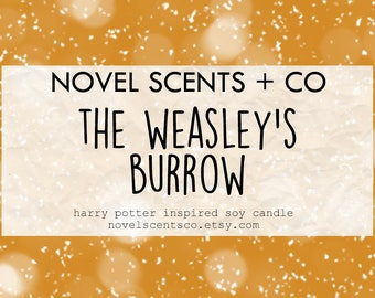 The Weasley's Burrow - Harry Potter inspired soy candle (6oz tin)