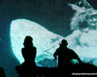 Chautauqua, Surreal Photo, Silhouettes, Dancer, Never Stop Dancing, Guy & Gal, Bonnaroo, Fine Art Photograph, Photo Print, Wall Art