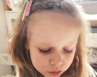 Glitter felt and velvet hair clips   set of 4 alligator hair clips, glitter clips, velvet clips, girls hair accessories