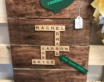 Personalized Family Name Scrabble Decor