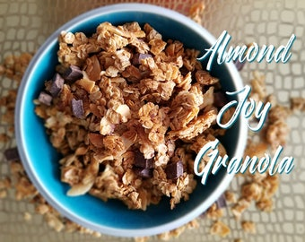 Almond Joy Granola/Vegan/100% Natural/Dark Chocolate/Coconut/Almonds
