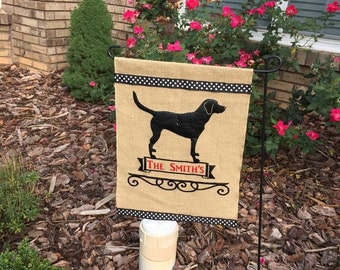 Dog/Labrador/Personalized Garden Flag/