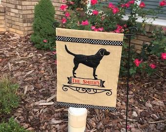 Dog/Labrador/Personalized Garden Flag/