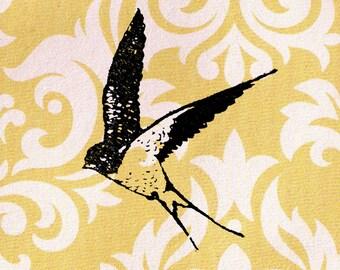 Swallow Bird Stamp: Wood Mounted Bird Rubber Stamp