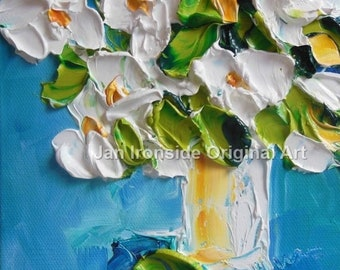 Mothers day, Floral art, White flower, Oil Painting , Romantic, wall decor, home decor, home gallery